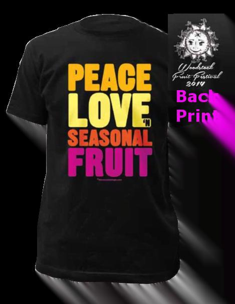guys peace love n seasonal fruit t shirt