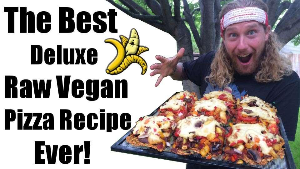 Raw Vegan Pizza, best deluxe pizza ever