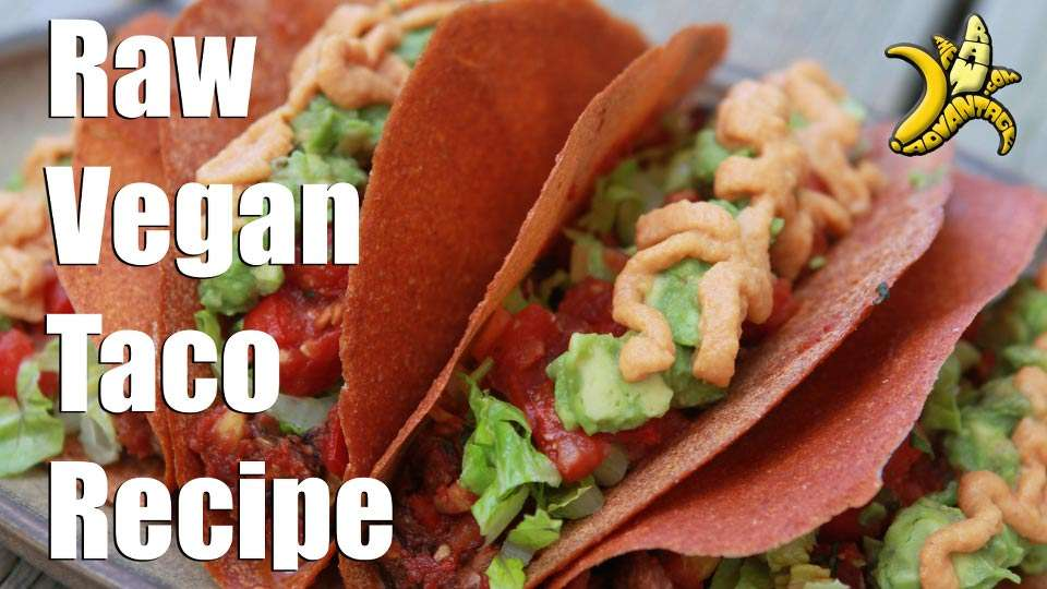 Taco Shell Recipe, Raw Vegan Hard Shell Tacos!