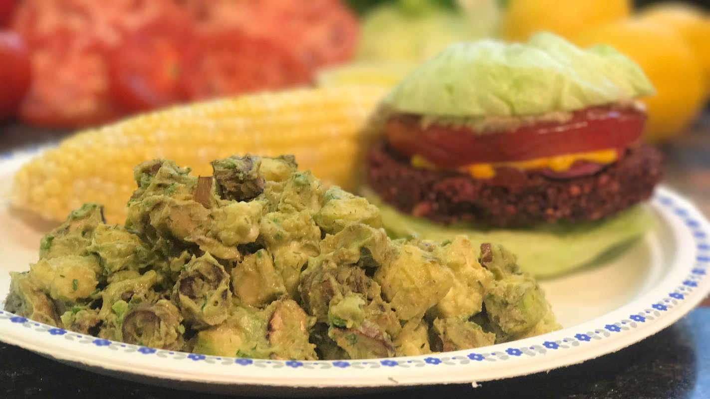 low fat raw vegan potato salad chris kendall the raw advantage