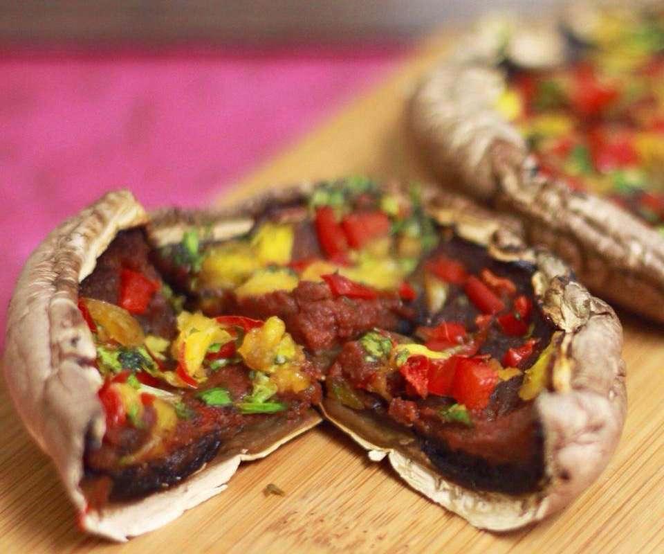 no fat raw vegan portabello pizza chris kendall the raw advantage